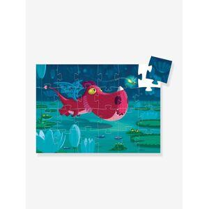 DJECO Puzzle de 24 peças Edmond o dragão, da DJECO verde escuro liso com motivo