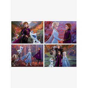 EDUCA Lote de 4 puzzles progressivos de 50 a 150 peças Disney® Frozen 2, da EDUCA rosa claro liso com motivo
