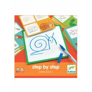 DJECO Step by step Animais, da DJECO bege medio liso com motivo