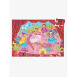 DJECO Puzzle Bailarina na Flor, com 36 peças, da DJECO bege medio liso com motivo