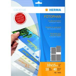 HERMA Fotophan 10X15cm Transparente (10 folhetos)