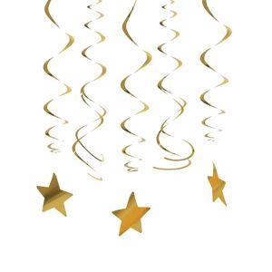 30 Decorações para pendurar estrelas douradas
