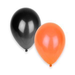50 Balões pretos e laranja Halloween
