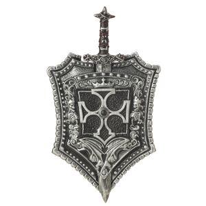 Escudo e espada de cavaleiro de plástico adulto
