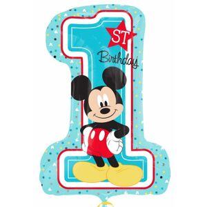 Balão número1 alumínio Mickey
