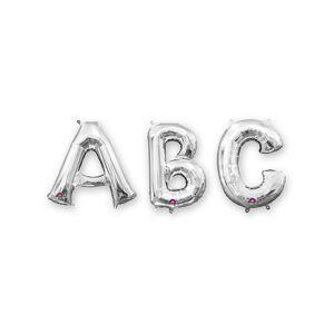 Balão alumínio letra prateada 86 cm