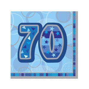 16 Guardanapos de papel 70 anos azuis 33 x 33 cm