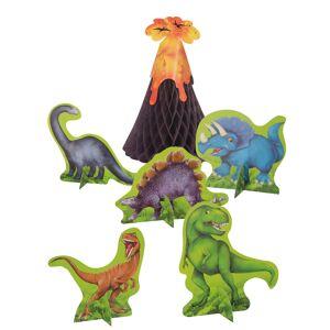 6 Centros de mesa de papel dinossauros