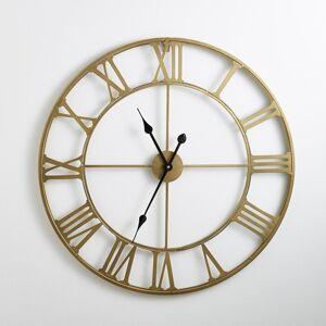 Relógio de parede em metal, cor latão, Zivos   Latão