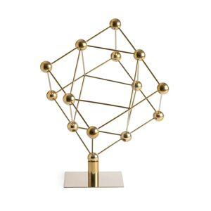 Am.pm Escultura átomos, em aço, alt. 56,5 cm, Atomia   latão envelhecido