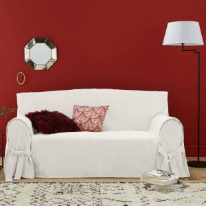 Capa para sofá em linho/algodão, JIMI   Cru