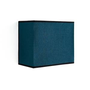 Aplique de parede retangular, em linho, Thade   Azul-petróleo