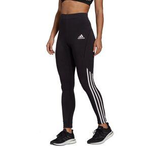 Adidas Performance Leggings com logótipo, barras dos lados   Preto