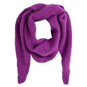 Écharpe em malha suave com mistura de lã   Ameixa