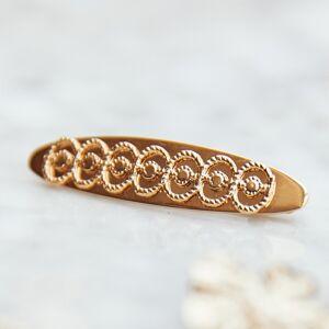 Balzac Paris X La Redoute Collections Gancho oval para o cabelo   Dourado