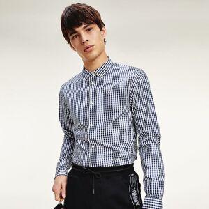 Tommy Jeans Camisa slim aos quadrados Gingham   marinho/branco