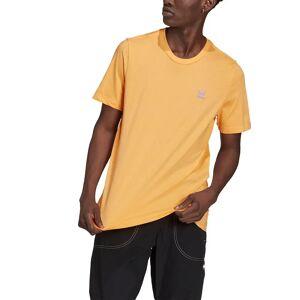 Adidas Originals T-shirt de mangas curtas, logótipo trevo pequeno   Laranja
