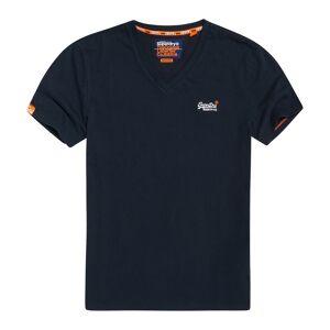 Superdry T-shirt de decote em V, mangas curtas,  ORANGE LABEL VINTAGEMarinho- 2XL