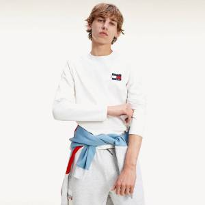 Tommy Jeans Camisola de mangas compridas Tommy Badge   Branco