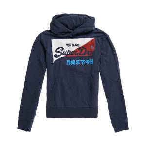 Superdry Sweat com capuz Vintage Logo   azul