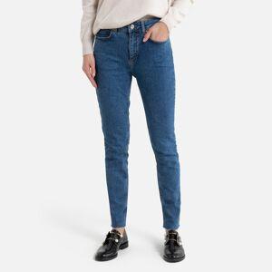 Jeans slim, cintura subida   double stone