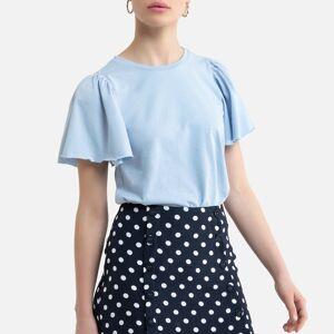 Vero Moda T-shirt com folho nas mangas   azul