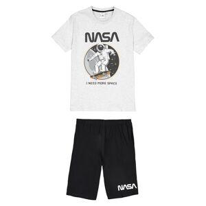 Nasa Pijama em algodão bio, 10-16 anos   Cinza-Claro Mesclado/Antracite