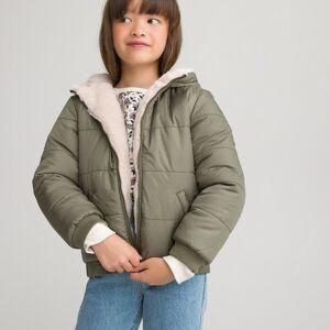 Blusão reversível, com capuz, 3-12 anos   rosa/caqui