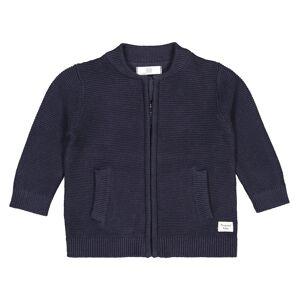 La Redoute Collections Casaco em malha tricot ponto de liga, com fecho, 1 mês-3 anosMarinho- 1 ano (74 cm)