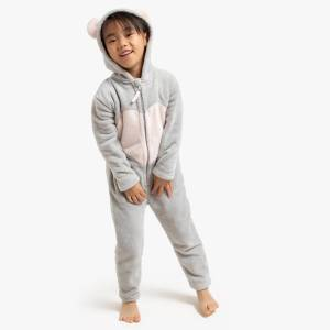 Macacão-pijama ratinho, 3-12 anos   Cinzento/Rosa