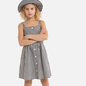 Vestido de alças finas aos quadrados, 3-12 anos   Quadrados