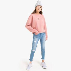 La Redoute Collections Jeans skinny efeito rasgado, 10-16 anosdouble stone- 16 anos (162 cm)