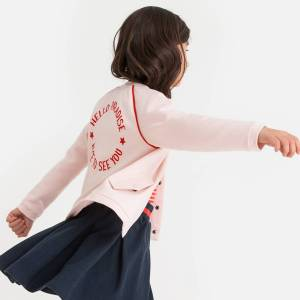 La Redoute Collections Blusão Teddy com mensagem atrás, 3-12 anosrosa- 10 anos (138 cm)