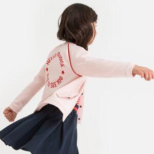 La Redoute Collections Blusão Teddy com mensagem atrás, 3-12 anosrosa- 8 anos (126 cm)