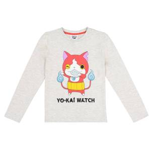 Yo Kai Watch T-shirt, 6 -12 anosBege Mesclado- 10 anos (138 cm)