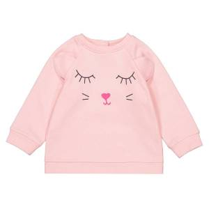 La Redoute Collections Sweat estampada, 1 mês – 4 anosrosa- 18 meses (81 cm)