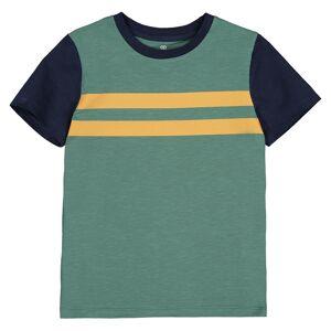 La Redoute Collections T-shirt de gola redonda, 3-12 anosmarinho/verde- 3 anos (94 cm)