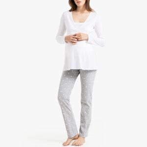 La Redoute Collections Pijama especial gravidez e amamentaçãobranco/cinzento- 50/52