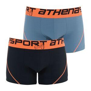 Athena Lote de 2 boxers, Air Performance   preto + antracite