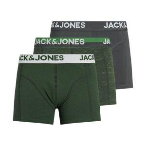 Jack & Jones Lote de 3 boxers   Verde-mesclado + verde + cinzento