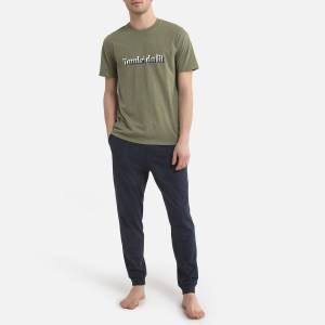 Pijama em moletão   Marinho/verde