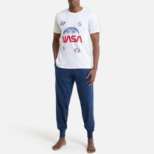Nasa Pijama Nasa   branco/azul