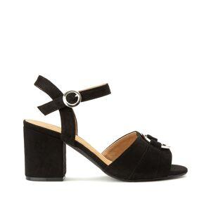 Plus Sandálias detalhe fivela, especial pés largos, do 38 ao 45   Preto