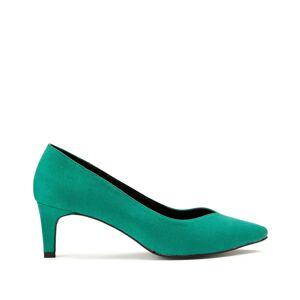 Sapatos com tacão agulha   verde-menta
