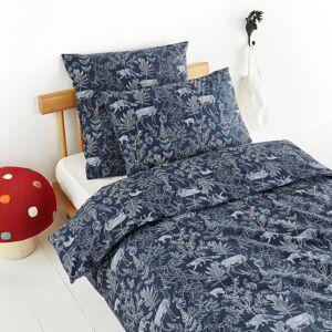 Am.pm Capa de edredon estampada, em algodão bio, Oaka   Azul meia-noite