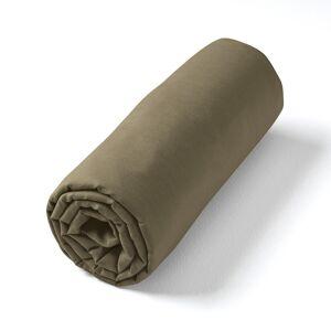 Am.pm Lençol-capa em voile de algodão lavado, para colchões altos, Gypse   Caqui
