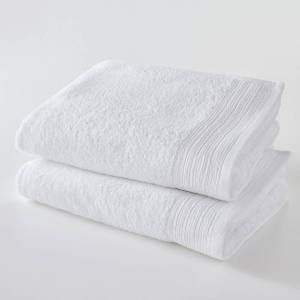 Lote de 2 toalhas de banho bio 500g/m², Scenario   Branco