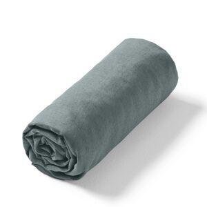Am.pm Lençol-capa em linho lavado Elina, para colchão alto   verde-acinzentado