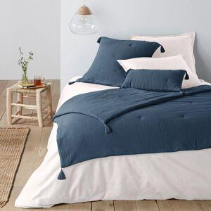 Edredon em gaze de algodão, Kumla   azul-prússia