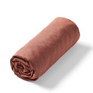 Am.pm Lençol-capa em linho lavado Elina, para colchão alto   Terra Toscana